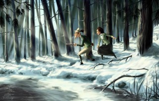 "Production painting for the feature production ""Lissi und der wilde Kaiser"", Position: Colour Concept Designer, Client: Scanline VFX, 2013 © herbX Film"