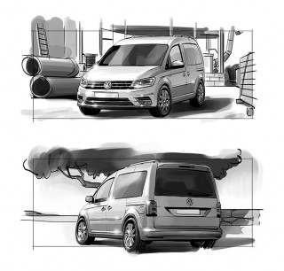 Storyboard frames for VW, Client: Bakery Films (Hamburg), 2015 © Jan Philipp Schwarz