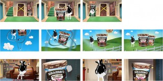 "Storyboard for ""The Big Bang Theory"" and Ben & Jerry's, Client: Dokyo (Hamburg), 2015 © Jan Philipp Schwarz"