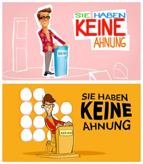 """Sie haben keine Ahnung"" (You know nothing) wasn't actually the title of the show. Client: ProSiebenSat.1 Media 2016 © Jan Philipp Schwarz"