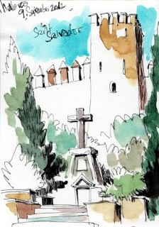 I drew this picture while my wife was taking a nap on my lap... Mallorca, Spain, 2012 © Jan Philipp Schwarz