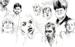 people, some from TV, some from life drawing classes, some from the street, 2013 © Jan Philipp Schwarz