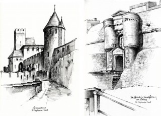 the French castles of Carcassonne and Salses, France, 2008 © Jan Philipp Schwarz