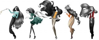 Fashion illustrations for a Wenz brochure, client: Agenc, 2016 © Jan Philipp Schwarz