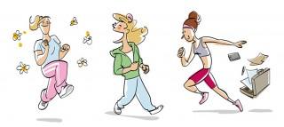 Book illustrations for a book about running. Client: Bruckmann Verlag, 2016 © Jan Philipp Schwarz