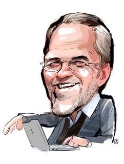 Caricature of a company staff member, Client: Nemetschek Group, 2020 © Jan Philipp Schwarz