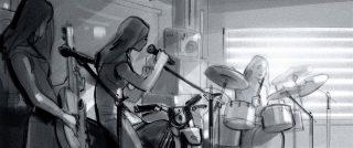 Garage girl band. Internet banking app George of Erste Bank and Sparkasse, Client: Zauberberg 2021 © Jan Philipp Schwarz