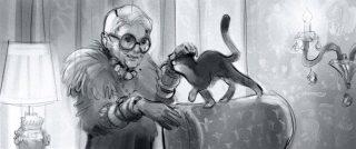 Rich, old, extravagant cat Lady. Internet banking app George of Erste Bank and Sparkasse, Client: Zauberberg 2021 © Jan Philipp Schwarz