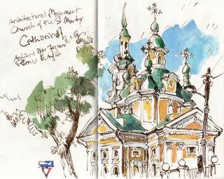St. Cathrine's church challenged me with her intricate architecture, Pärnu, Estonia, 2014 © Jan Philipp Schwarz