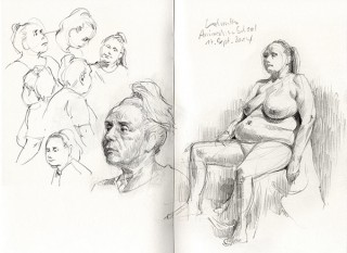 while I was teaching at the ASH I joined Leonid's life drawing classes, Hamburg, 2014 © Jan Philipp Schwarz