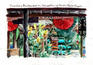 holiday resort at Ko Phi Phi, (I put a step-by-step tutorial of this picture on my site), Thailand, 2014 © Jan Philipp Schwarz