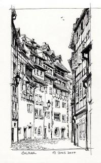 an Oliver Twist-ish backstreet in Colmar, France, 2014 © Jan Philipp Schwarz