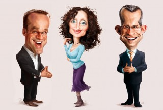 Caricatures for BizTravel, Client: FVW Mediengruppe, 2013 © Jan Philipp Schwarz