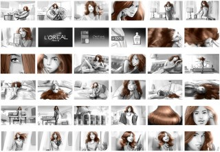 "Shootingboard ""Lena"" for L'Oréal, Client: Soup Film (Berlin), 2013 © Jan Philipp Schwarz"