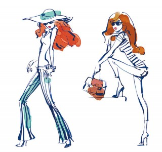 Fashion illustrations for Wenz, Client: Agen©, 2015 © Jan Philipp Schwarz
