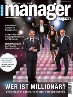 """Who's a Millionaire?"" cover for Manager Magazin, Client: Scholz & Friends, 2013 © Jan Philipp Schwarz"
