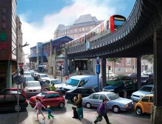 """""""Rödingsmarkt"""" for HVV campaign, Client: Zum Goldenen Hirschen, 2013 © Jan Philipp Schwarz"""