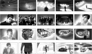 Shootingboard for Chinese TV advert for Ford, Client: Velvet (Munich), 2015 © Jan Philipp Schwarz