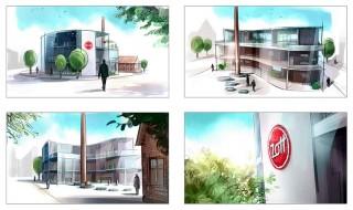 Architectural visuals for Zott's new headquarters, client: Manufaktur Design München, 2016 © Jan Philipp Schwarz