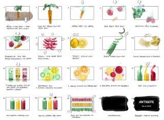 Tom Bohn directed this minimalistic and very stylish fruit juice ad for Antidote, 2018 © Jan Philipp Schwarz