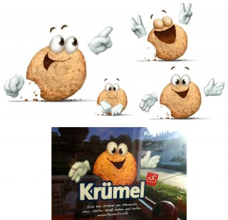 "Cookie ""Krümel"" for Brotmeisterei Steinecke (including a shop window photo), Client: Institut für Markenführung, 2013 © Jan Philipp Schwarz"