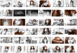 """Shootingboard """"Lena"""" for L'Oréal, Client: Soup Film (Berlin), 2013 © Jan Philipp Schwarz"""