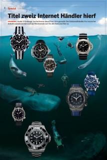 """""""Deep Sea Watches"""" magazine double spread for Wirtschaftswoche, 2013 © Jan Philipp Schwarz"""