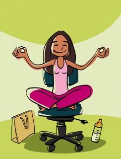 "Full page chapter illustration for ""Alles Yoga!"", Client: Perlen-Reihe, 2014 © Jan Philipp Schwarz"